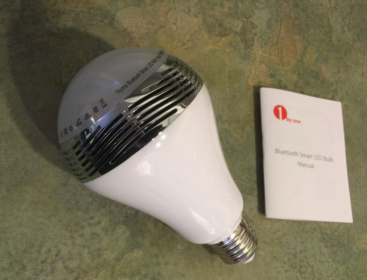 Product review 1byone smart led bluetooth light bulb with for Bluetooth bulb