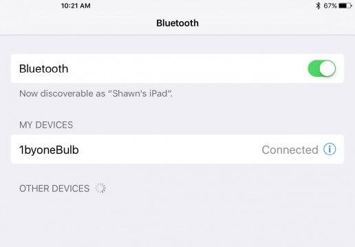 1byone LED bulb Bluetooth pairing