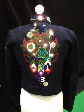 Bonnie Binary Embroidered Jacket