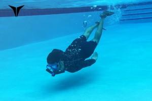 triton swimmer in pool