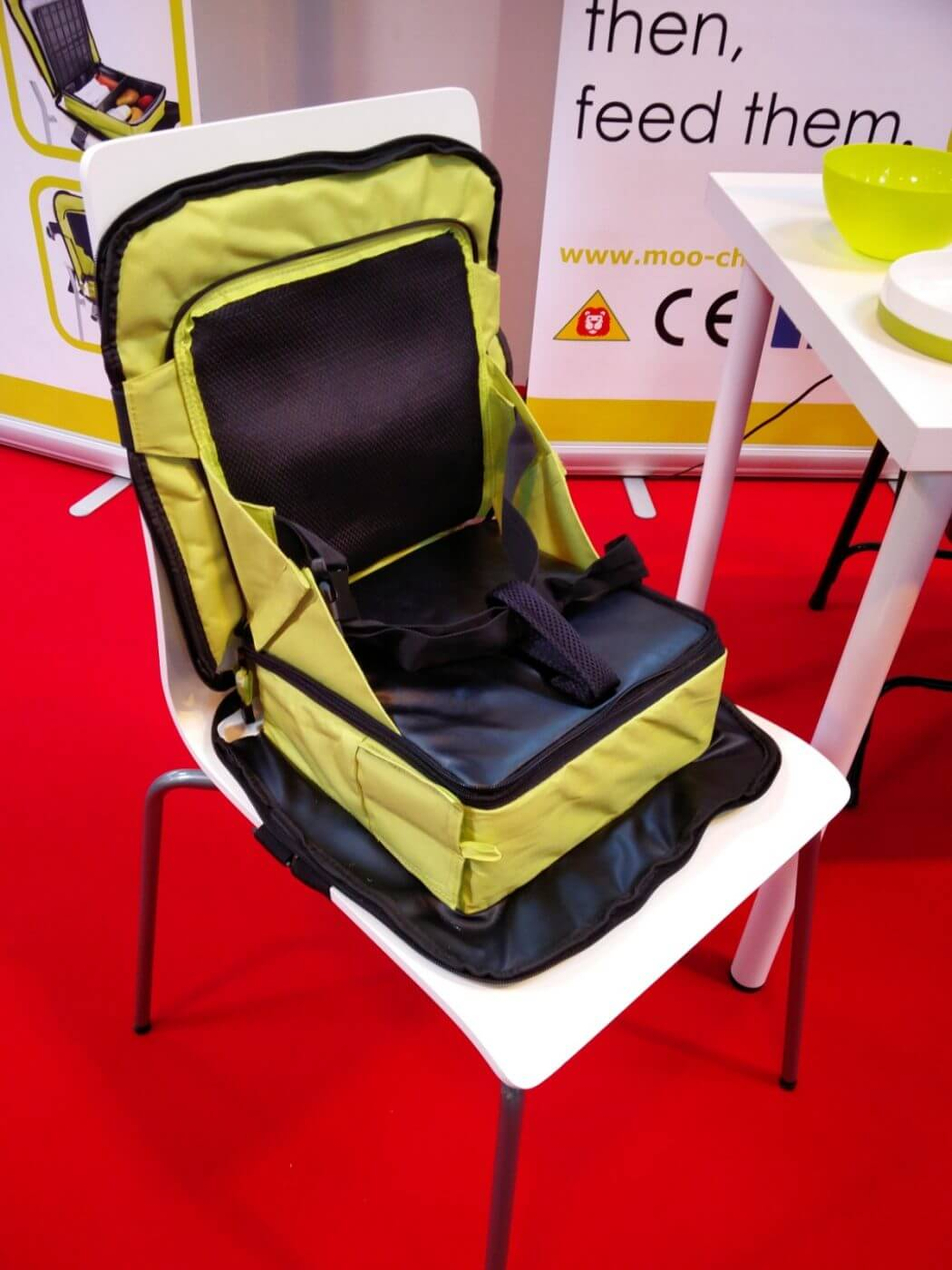 Moochew Baby Seat And Lunch Box At Gadget Show Live Geek