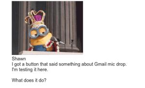 Gmail Mic Drop test