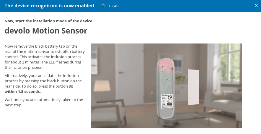 Add Devolo Motion Sensor