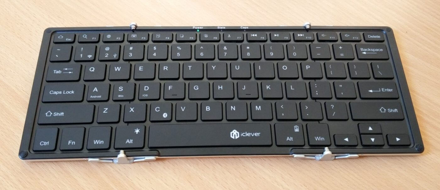 iClever Folding Keyboard Unfolded