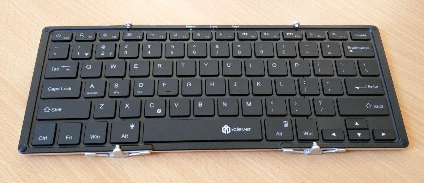 iClever Folding Keyboard Unfolded