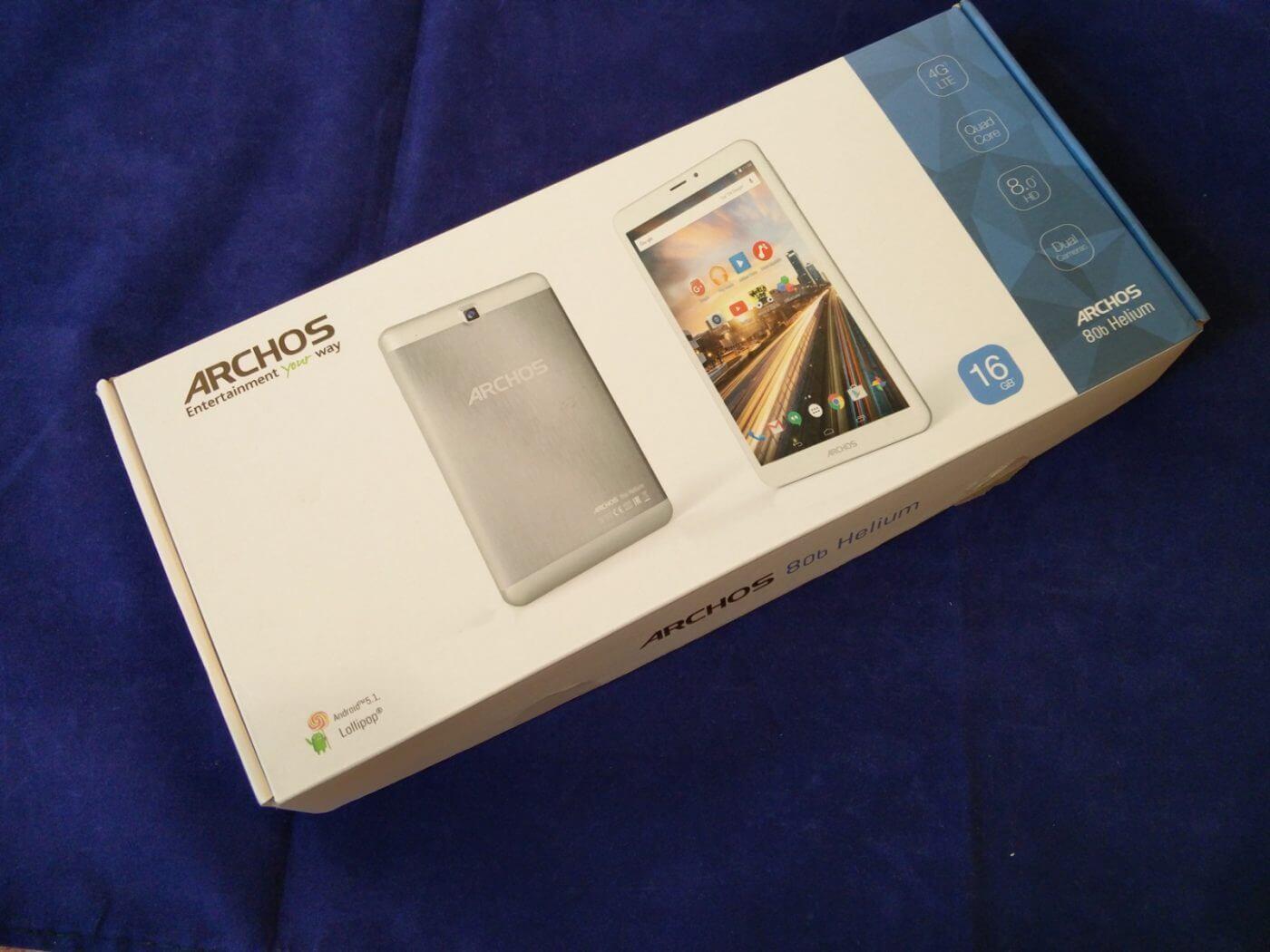 Archos 80b Helium Tablet Box