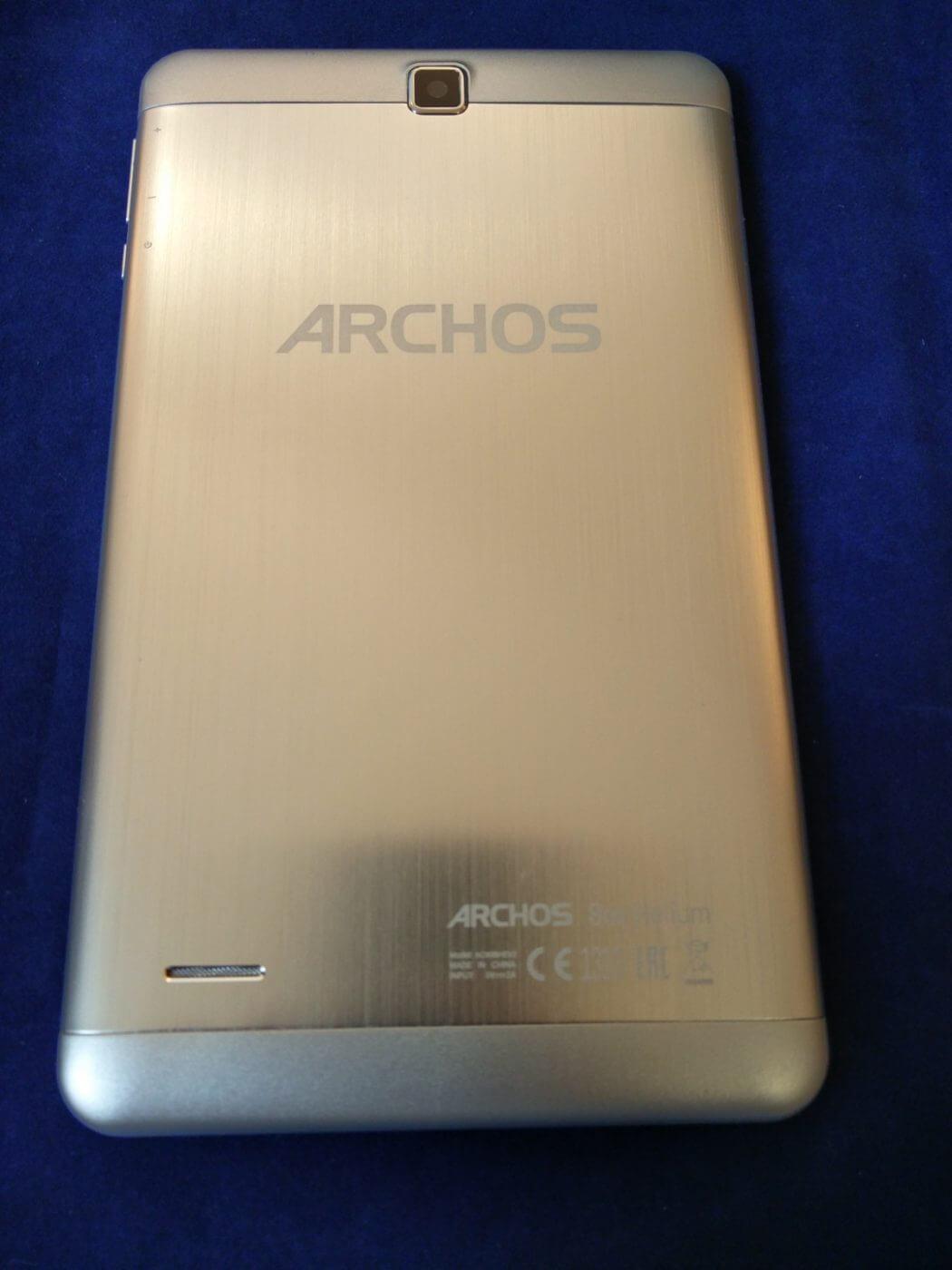 Archos 80b Helium Tablet Rear