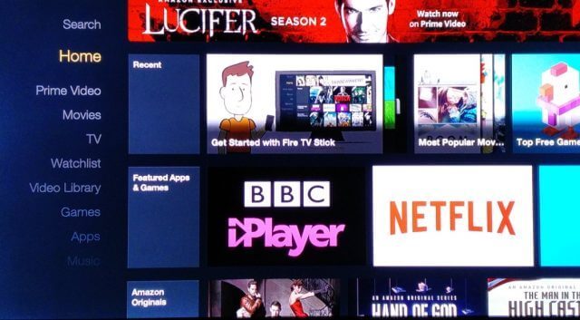 Fire TV Menu