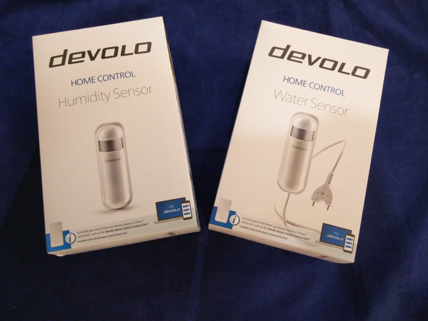 Devolo Humidity and Water Sensors in Box
