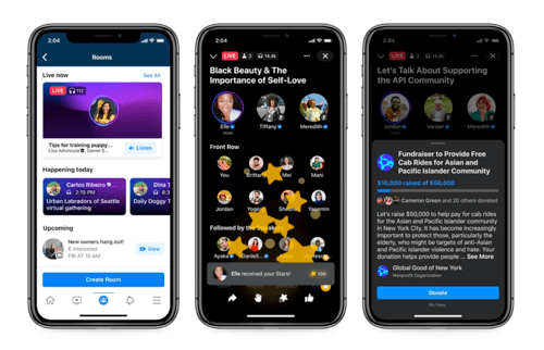 Facebook's Live Audio Rooms is a Clubhouse Competitor